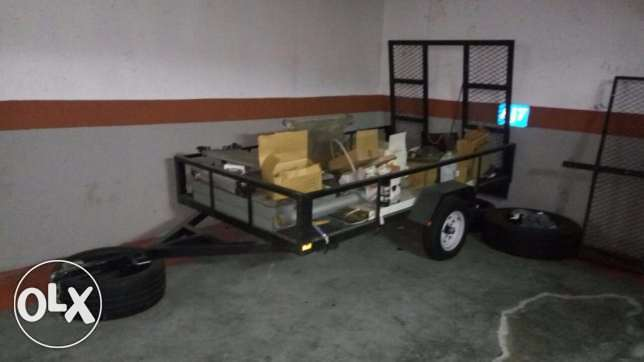 TRAILER, used twice only- 3 meters long, 180 cm wide
