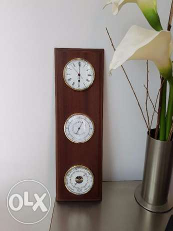 Wall Clock + Barometer + Pressure for Rain & Weather forecasting