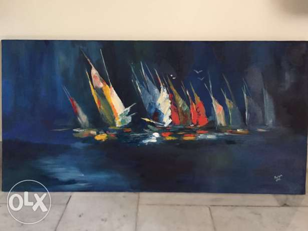 Oil painting 90 * 45cm