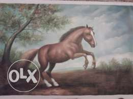 printed on canevas painting size 100*70 excellent condition