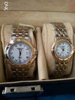 His and Hers Raymond Weil two tone Watches