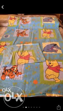 Bear baby bed set 3 pcs .