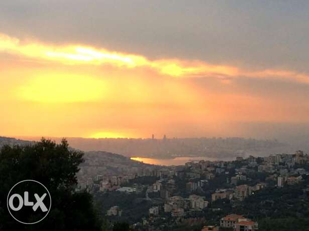 1000 m2 Land for sale in Klayaat (Panoramic sea & mountain view)