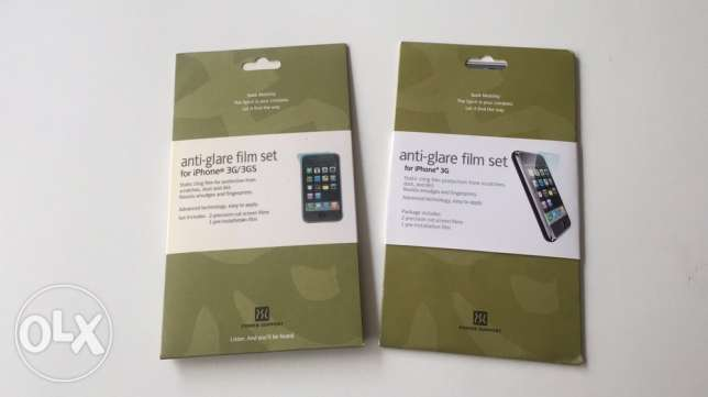 Anti-glare Protection film set Iphone 3G Power support