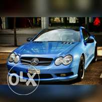 Mercedes SL55 AMG, V8 supercharged 500 HP 700 NM torque.
