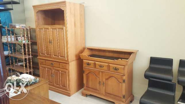 TV Armoire and Wash Stand