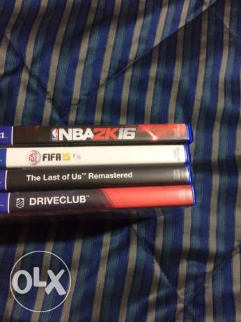 ps4 drive club nba 2k 16 fifa 15 and the last of us for sale انطلياس -  1