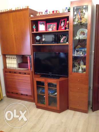 tv stand with display