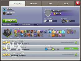 clash of clansfor sale or trade with clash royal