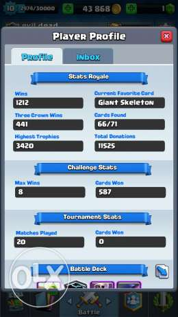 Account clash royale for sale