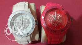 2 Ice watches White and Pink