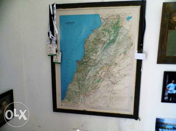 Map of Lebanon excellent for office