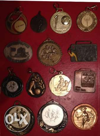 14 Sport Medals Medal different years including 2 Beirut Marathon