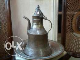 Brass Jug, antique, ibriq nohas adim 100-150 sene