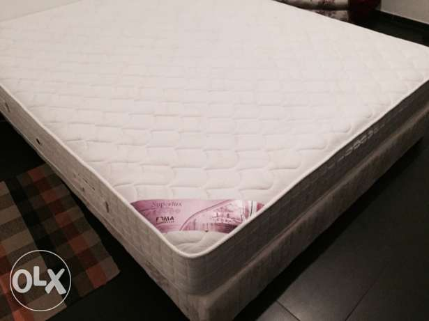 Box bed with Mattresses Foma Superlux Queen (1.70 x 2.00) impeccable! أشرفية -  3