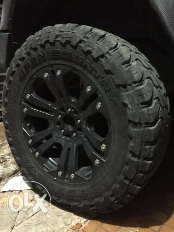 35inch Toyo Tires + XD Series 20inch Rims for Wrangler المتن -  1