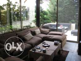 350 sqm decorated apartment + terrace for sale in Baabda
