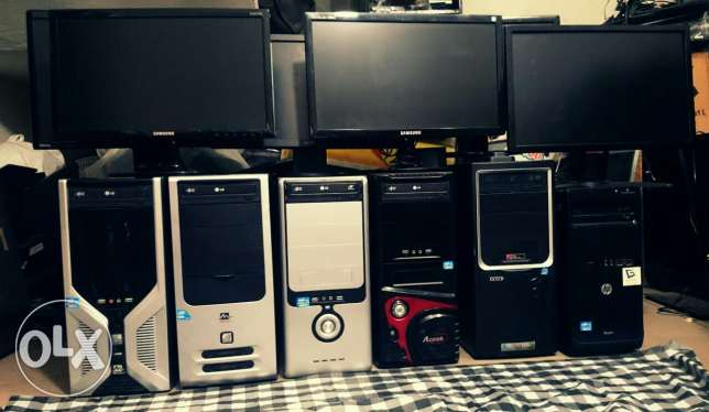 """6 Computer's Core i3 Ram 4GB Hard 500GB with LCD 19"""" Wide for sale"""