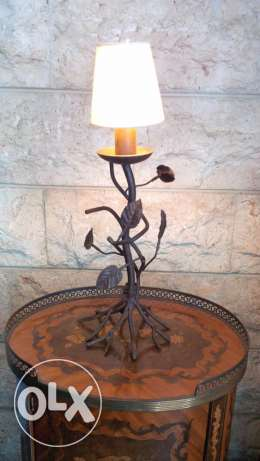 Hand made steel table lamp