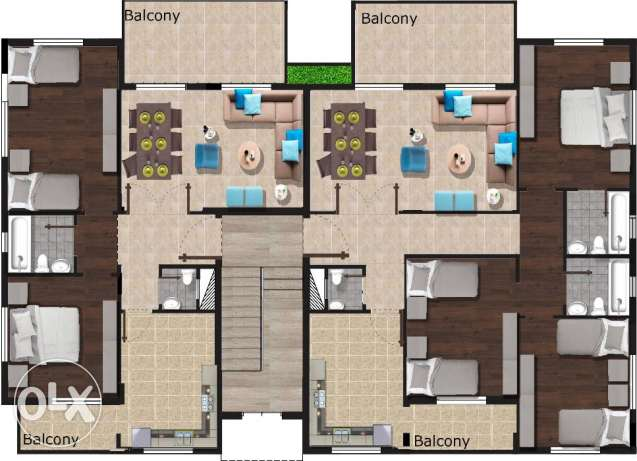 140 m2 apartment for sale in Zefta ready for delivery