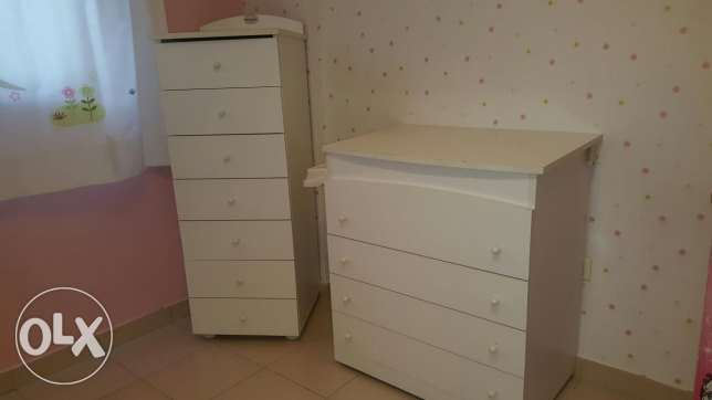 Baby room drawers