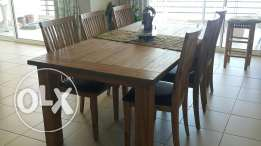 Dining table and dressoire