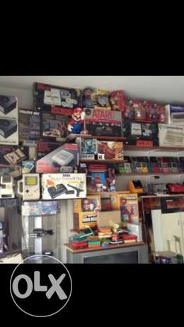 nintendo , sega , atari , ps1 and old retro consoles and games