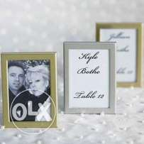 96 silver mini photo frames easel back