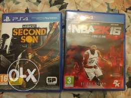 Infamous second son and nba 2k16 for sale ps4