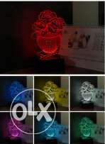 Night Lamps 3D RGB Desk Table Lamp for Girlfriend as Birthday Holiday