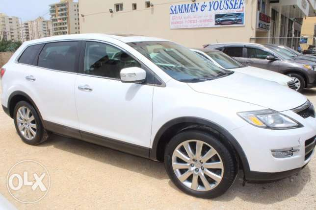 cx9 4wd grand touring white/blk leather model2008 ajnabi