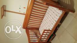 Wooden bed for babies