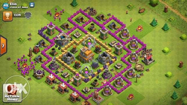 Clash of clans towhal 8 /7 عكار -  2