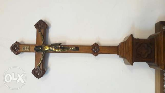 Old wood nd Bronze cross 60cm