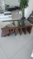 Table Wood & glass no: 002