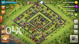 Clash Of Clans TH9 Half Maxed