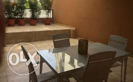 Decorated & furnished apart for sale in Naccache with terrace 50 Sqm