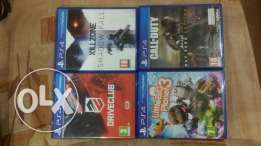 4 dvds PS4 For sale
