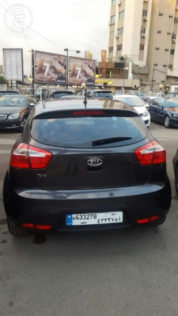 Kia rio hatshback f.o mod 2013 black 2 airbag +ABS jnouta 17 like new جديدة -  2