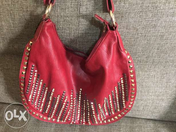 leather bag منصورية -  1