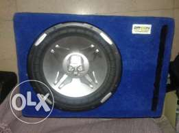 Power acoustik subwoofer with pioneer box