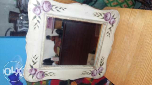 Miror hand painting frame in wood