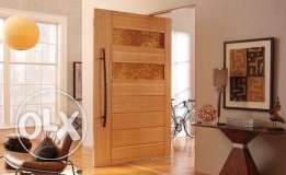 Wooden doors fabrication