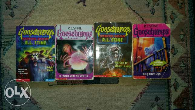 4 Goosebumps Books Good Condition