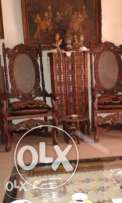 2 chairs with semainier louis 1 5 ,bois noix  furniture