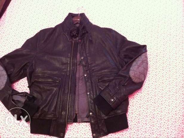 chevignon leather jacket جديدة -  2