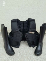 Protection Jacket and Boots for equitation