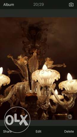 mourano chandelier with gold water سبتية -  1