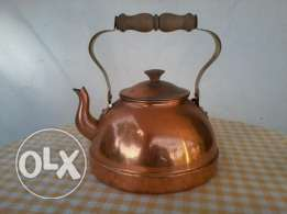 Old copper Jug 50-60 years old, yellow copper hand made