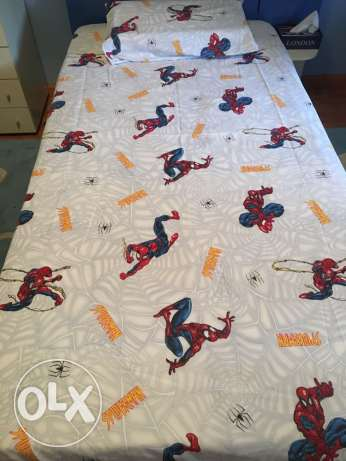 Spider-Man 2 pcs bed set , sheet and pillow case